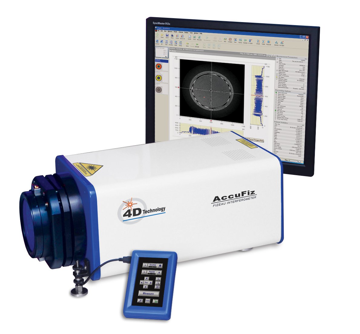 AccuFiz Fizeau Interferometer in horizontal mounting application