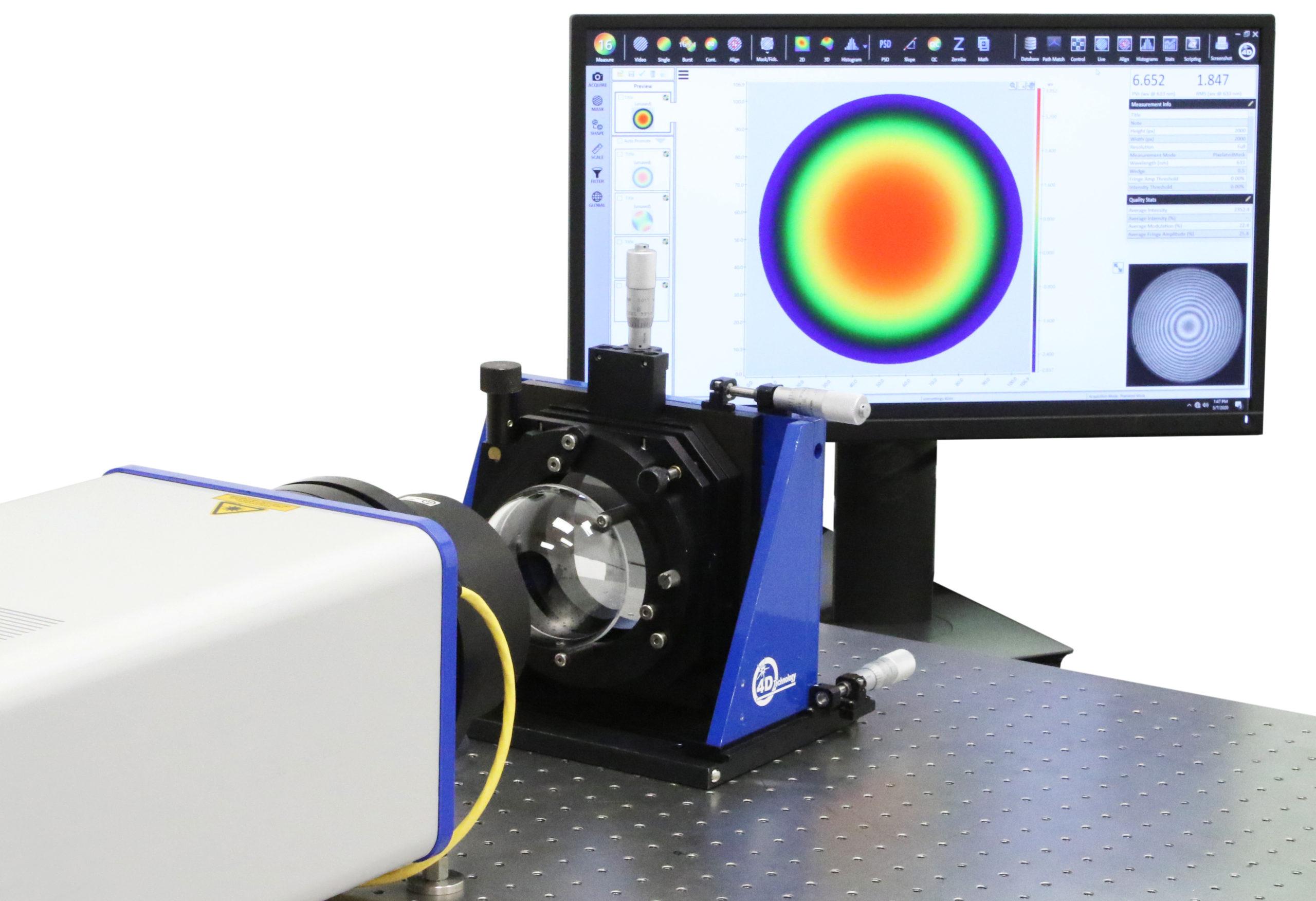 Fizeau Interferometer - FizCam 100mm aperture dynamic laser interferometer