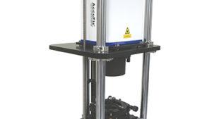 4D Technology Vertical Digital Radius Slide with AccuFiz Fizeau Laser Interferometer for fast, accurate Radius of Curvature (ROC) measurement