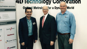 Alex Rodriguez VP, Southern Arizona Regional Offices at Arizona Technology Council, Eric L. Hirschhorn, and James Millerd, President of 4D Technology