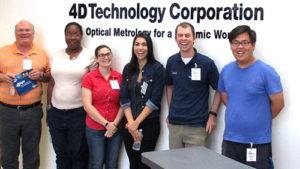 University of Arizona Optical Science Students Tour 4D Technology Facility