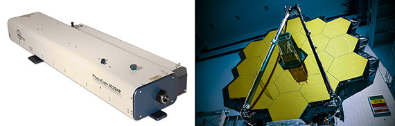 PhaseCam 4020HP Laser Interferometer and and JWST Primary Mirror