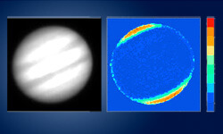 Polarization images of Jupiter's poles