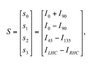 Stokes Vectors definition equations