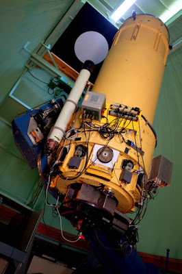 Vorobiev's telescope with the PolarCam installed for measuring polarization in astronomy, to see the clouds of Jupiter